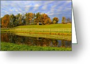 Kingston Greeting Cards - October Reflections Greeting Card by Suzanne DeGeorge