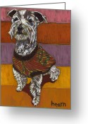 David Kent Collections Greeting Cards - Odie Goes to Market Greeting Card by David  Hearn
