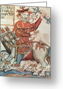 Norse Greeting Cards - Odin, Norse God Greeting Card by Photo Researchers