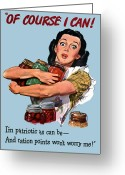 United States Propaganda Greeting Cards - Of Course I Can Greeting Card by War Is Hell Store