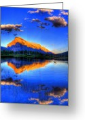 Canadian Rockies Greeting Cards - Of Geese and Gods Greeting Card by Scott Mahon