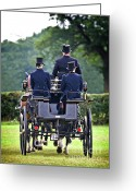 Dressage Photo Greeting Cards - Of More Gentile Times Greeting Card by Meirion Matthias