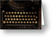 Typewriters Greeting Cards - Of Times Gone By Greeting Card by Ernie Echols