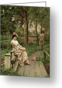 Regret Greeting Cards - Off Greeting Card by Edmund Blair Leighton