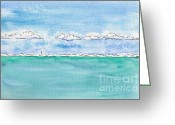 South Seas Greeting Cards - Off Matira Point - Bora Bora Greeting Card by Pat Katz