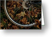 Bike Rider Greeting Cards - Off To Explore Greeting Card by Odd Jeppesen