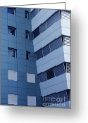 Stripes Greeting Cards - Office Building Greeting Card by Carlos Caetano