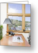 Work Lamp Greeting Cards - Office Window Greeting Card by Andersen Ross