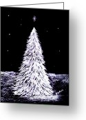 Christmas Pastels Greeting Cards - Oh Christmas Tree Greeting Card by Diane Frick