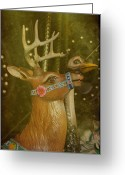 Amusement Parks Greeting Cards - Oh My Deer Greeting Card by Jan Amiss Photography