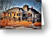 "\\\""haunted House\\\\\\\"" Greeting Cards - Oh the Memories Greeting Card by Emily Stauring"