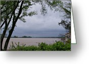 Evansville Greeting Cards - Ohio River Greeting Card by Sandy Keeton