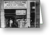 Elections Greeting Cards - Ohio Suffrage Headquarters in Cleveland Greeting Card by Padre Art