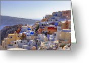Volcano Greeting Cards - Oia - Santorini Greeting Card by Joana Kruse