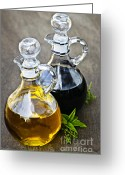Stopper Greeting Cards - Oil and vinegar Greeting Card by Elena Elisseeva