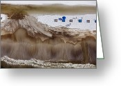 Oceans And Seas Greeting Cards - Oil-covered White Sands Of Orange Beach Greeting Card by Tyrone Turner