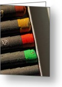 Crayons Greeting Cards - Oil Crayons Greeting Card by Robert Ullmann