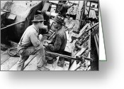 Talking Greeting Cards - Oil Workers, 1939 Greeting Card by Granger