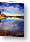 Okanagan Greeting Cards - Okanagan Lake in the New Year Greeting Card by Tara Turner