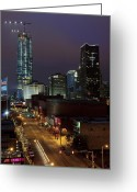 Devon Greeting Cards - OKC Evening Greeting Card by Ricky Barnard