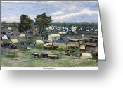 Encampment Greeting Cards - Oklahoma City, 1889 Greeting Card by Granger