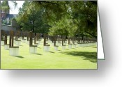 Loved Ones. Greeting Cards - Oklahoma Memorial Greeting Card by Malania Hammer
