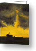 Elevators Greeting Cards - Oklahoma Thunderstorm Greeting Card by Garry McMichael