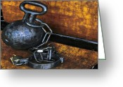 Husband Digital Art Greeting Cards - Ol Ball N Chain Greeting Card by Molly McPherson