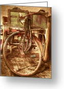 Flea Greeting Cards - Ol Rusty Antique Greeting Card by Debra and Dave Vanderlaan
