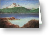 Woods Pastels Greeting Cards - Olallie Butte Greeting Card by Donald Aday