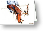 Cowboy Digital Art Greeting Cards - Olathes Greeting Card by Karen Slagle
