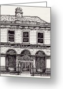 Play Drawings Greeting Cards - Old Abbey Theatre 1 Dublin Greeting Card by Alan Hogan