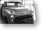 Old Chevrolet Truck Greeting Cards - Old American Chevy Chevrolet Truck . 7D10669  . bw Greeting Card by Wingsdomain Art and Photography
