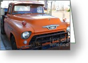 Old Chevrolet Truck Greeting Cards - Old American Chevy Chevrolet Truck . 7D10669 Greeting Card by Wingsdomain Art and Photography