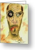 Pen Pastels Greeting Cards - Old and Abused Greeting Card by Jason Kasper
