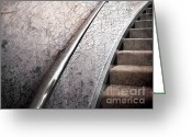 Staircase Greeting Cards - Old and New Greeting Card by Ellen Cotton