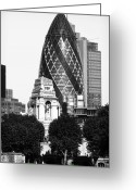 New Britain Greeting Cards - Old and New in London Greeting Card by John Rizzuto