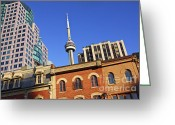See Greeting Cards - Old and new Toronto Greeting Card by Elena Elisseeva