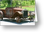 Homesickness Greeting Cards - Old Antique Vehicle Greeting Card by Douglas Barnett
