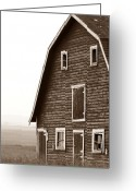Mario Brenes Simon Greeting Cards - Old Barn Front Greeting Card by Mario Brenes Simon