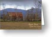 Southern Oregon Photo Greeting Cards - Old Barn in Southern Oregon with TEXT Greeting Card by Mick Anderson