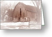 Barn Images Greeting Cards - Old Barn Greeting Card by Larry Ricker