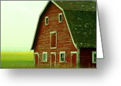 Mario Brenes Simon Greeting Cards - Old Barn Greeting Card by Mario Brenes Simon
