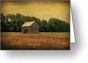Barn Art Digital Art Greeting Cards - Old Barn Greeting Card by Sandy Keeton