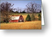 Tamyra Ayles Greeting Cards - Old Barn Greeting Card by Tamyra Ayles