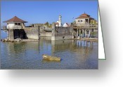 Roman Catholic Greeting Cards - old bath houses in Bavaria Greeting Card by Joana Kruse