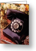 Ink Well Greeting Cards - Old bell telephone Greeting Card by Garry Gay