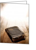 Religious Photo Greeting Cards - Old Bible in Divine Light Greeting Card by Olivier Le Queinec