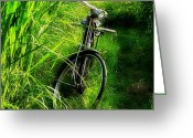 "Bicycle Greeting Cards - ""old Bicycle"" #old #bicycle #classic Greeting Card by Bimo Pradityo"