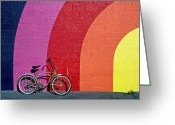 Used Greeting Cards - Old bike Greeting Card by Garry Gay